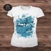 Image of Women's Lazy Bear Camper Van T-shirt